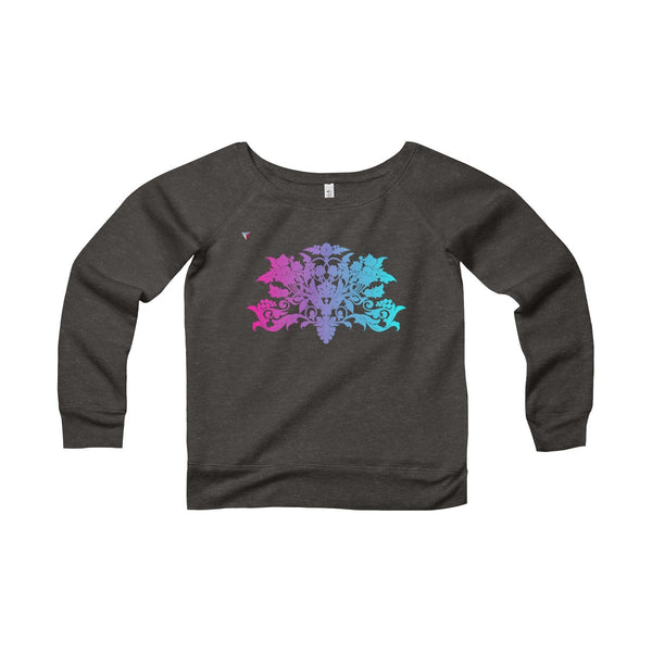 Colorful Baroque Women's Sponge Fleece Wide Neck Sweatshirt