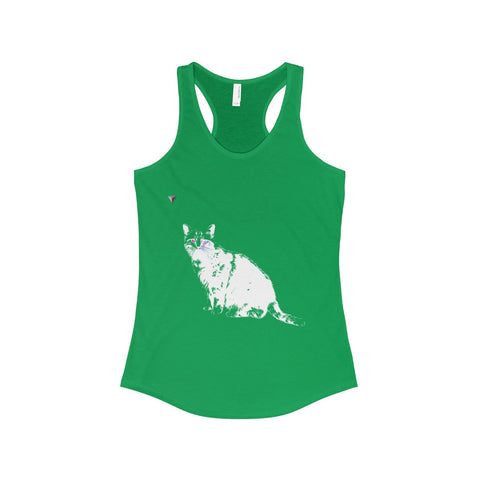 White Cat The Ideal Racerback Tank