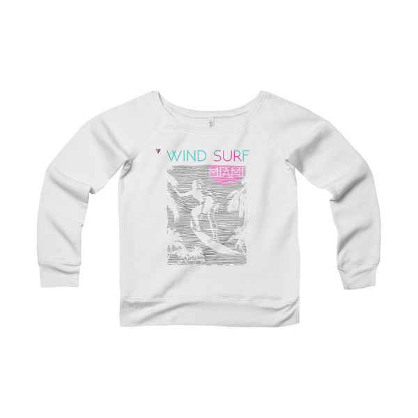Wind Surf Miami Women's Sponge Fleece Wide Neck Sweatshirt