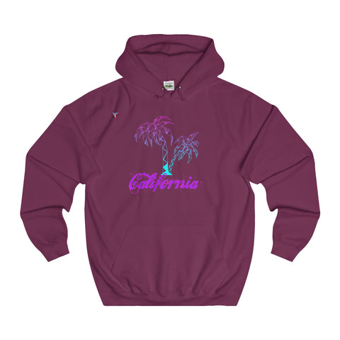 California Palm Tree Neon - College Hoodie