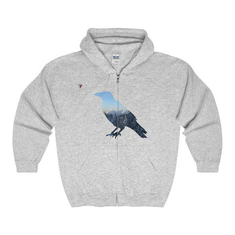 Mountain Raven Full Zip Hooded Sweatshirt