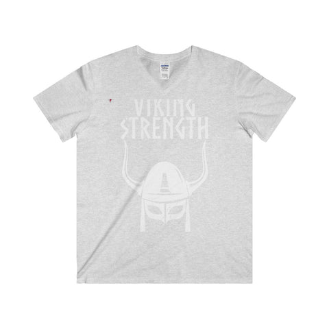 Viking Strength White Gym Softstyle® Adult V-Neck T-Shirt