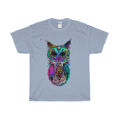 Mandala Owl Heavy Cotton T-Shirt
