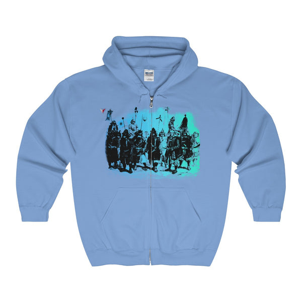 Japanese Samurai Warriors Full Zip Hooded Sweatshirt