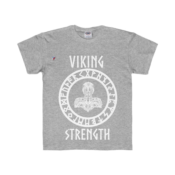 Viking White Youth Regular Fit Tee