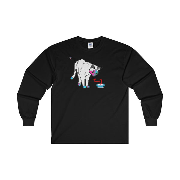 Pixel Cat Ultra Cotton Long Sleeve T-Shirt