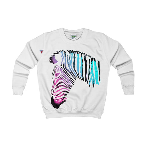Neon Zebra Kids AWDis Sweat