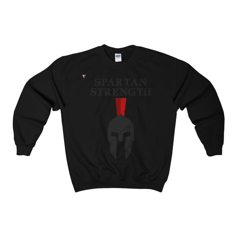 Spartan Strength Black Gym Heavy Blend™ Adult Crewneck Sweatshirt