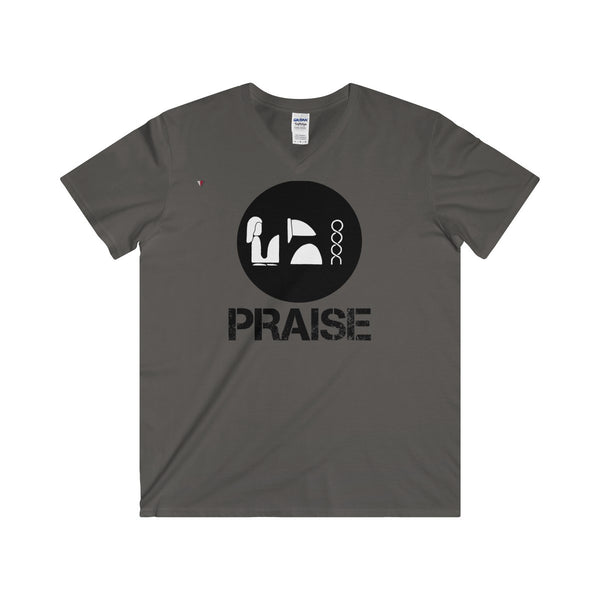 Praise Kek Black Softstyle® Adult V-Neck T-Shirt