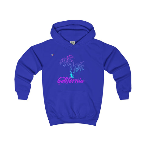 California Palm Tree Neon - Kids Hoodie