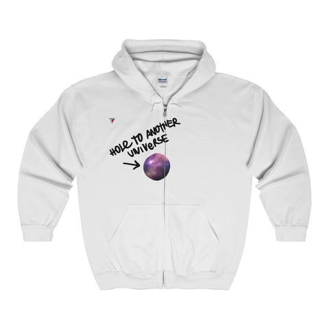 Hole To Another Universe Full Zip Hooded Sweatshirt
