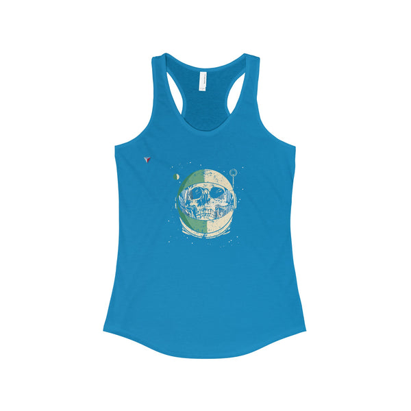 Helmet Skull - The Ideal Racerback Tank