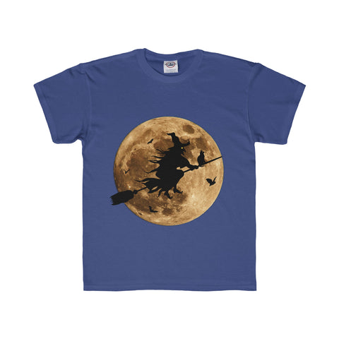 Halloween Moon Witch Youth Regular Fit Tee