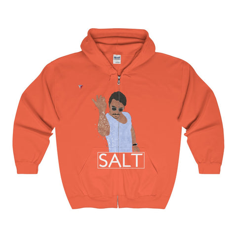 Salt Bae Full Zip Hooded Sweatshirt