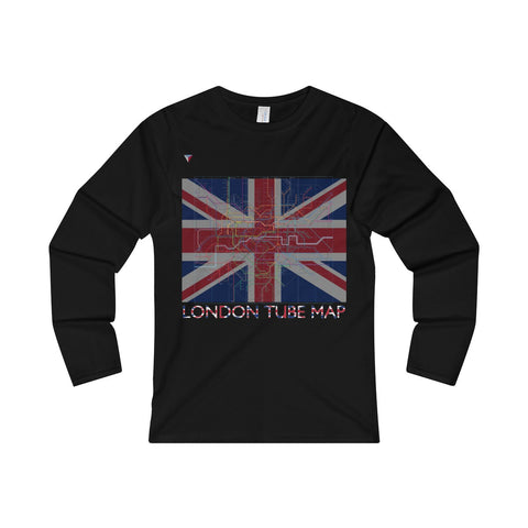 London Tube Map Ladies' Long Sleeve T-Shirt