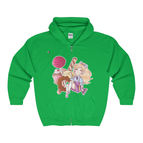 Cute Girl With Sweets Full Zip Hooded Sweatshirt