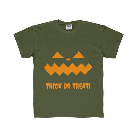 Halloween Pumpkin Orange Youth Regular Fit Tee