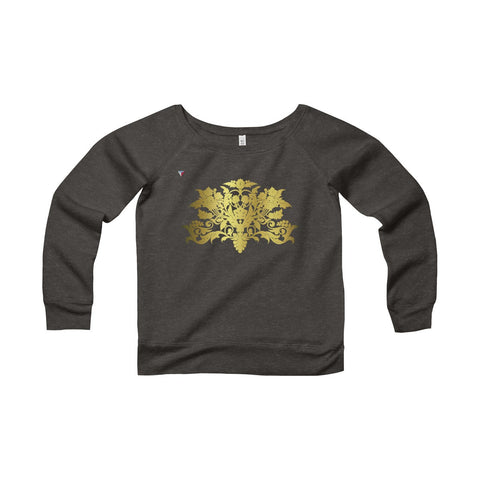 Gold Baroque Women's Sponge Fleece Wide Neck Sweatshirt