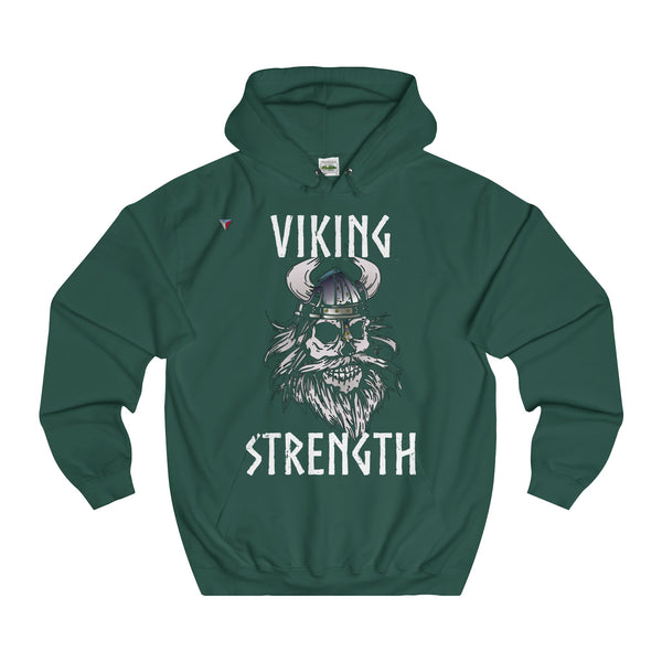 White Viking Gym Unisex College Hoodie