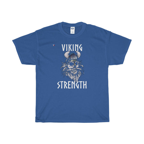 White Viking Gym Heavy Cotton T-Shirt