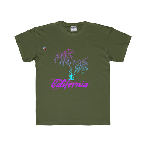 California Palm Tree Neon - Youth Regular Fit Tee