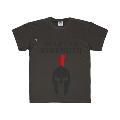 Spartan Strength Black Gym Youth Regular Fit Tee