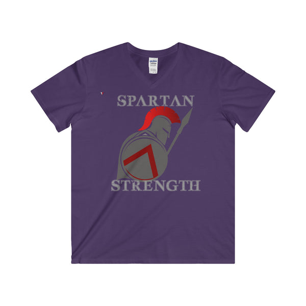 Spartan Strength Grey - Softstyle® Adult V-Neck T-Shirt