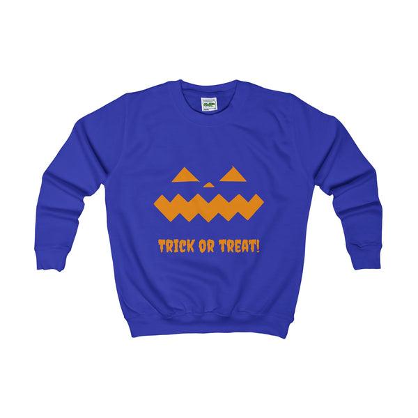 Halloween Pumpkin Orange Kids AWDis Sweat