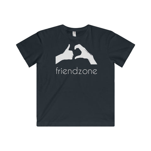Friendzone White Youth Fine Jersey Tee