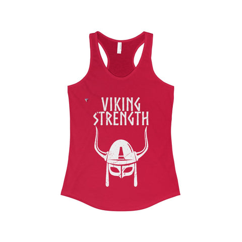 Viking Strength White Gym The Ideal Racerback Tank