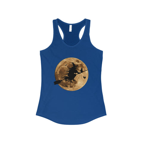 Halloween Moon Witch The Ideal Racerback Tank