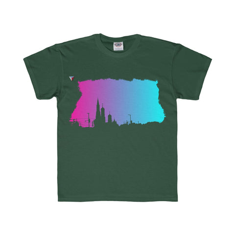 Neon Skyline Youth Regular Fit Tee