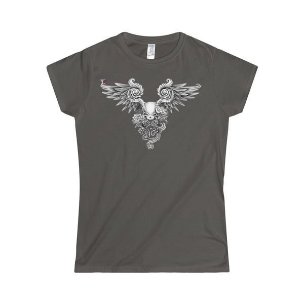Winged Skull Softstyle Women's T-Shirt