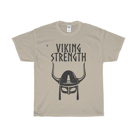 Viking Strength Black Gym Heavy Cotton T-Shirt