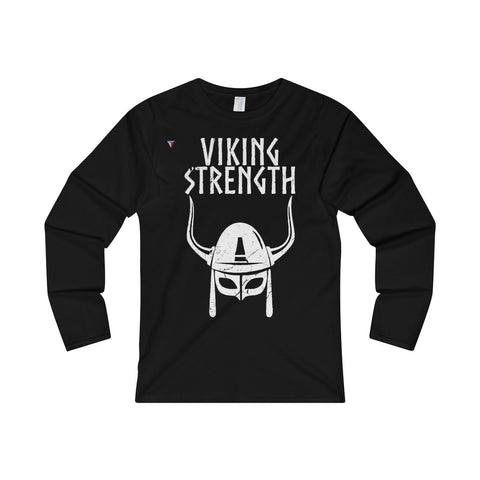Viking Strength White Gym Ladies' Long Sleeve T-Shirt