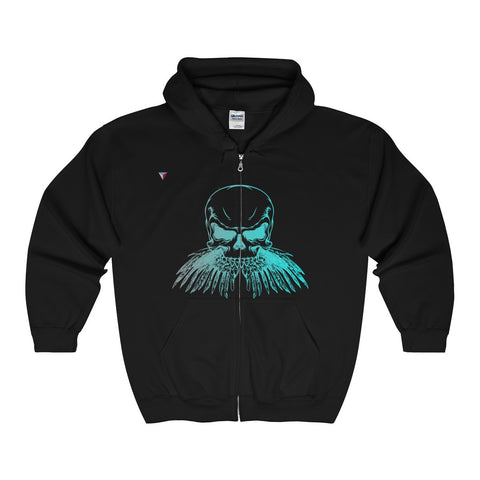 Neon Skull Full Zip Hooded Sweatshirt