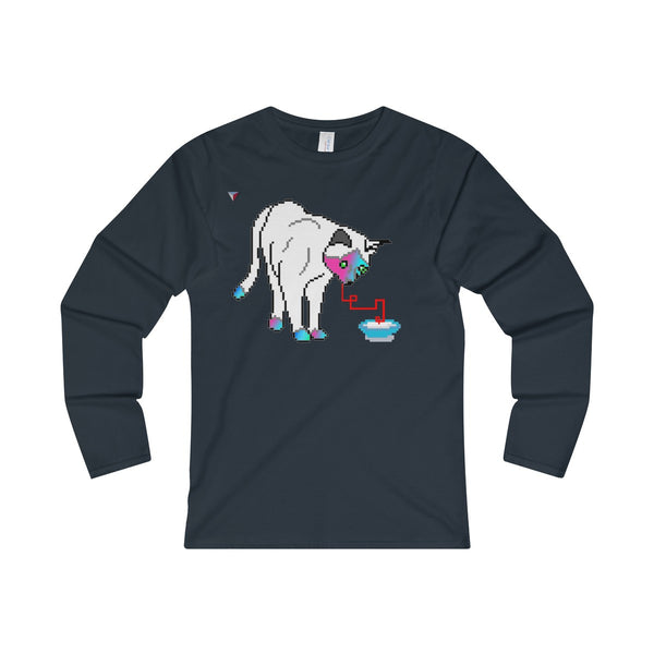 Pixel Cat Ladies' Long Sleeve T-Shirt