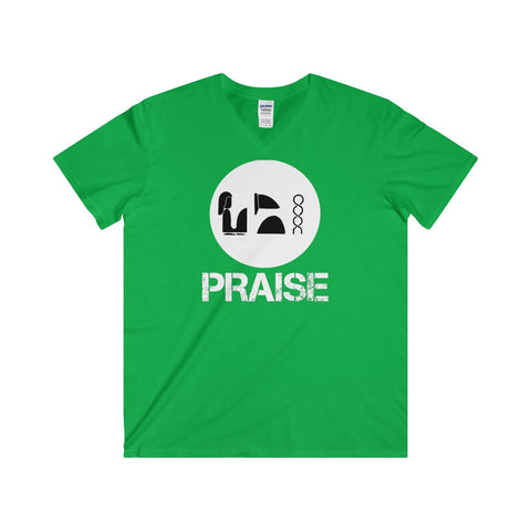 Praise Kek White Softstyle® Adult V-Neck T-Shirt