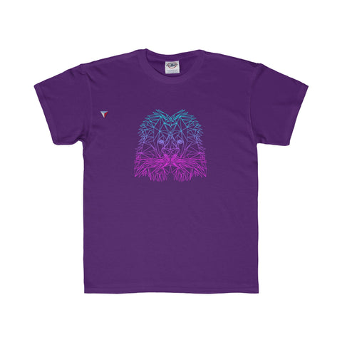 Lion Polygon Neon - Youth Regular Fit Tee