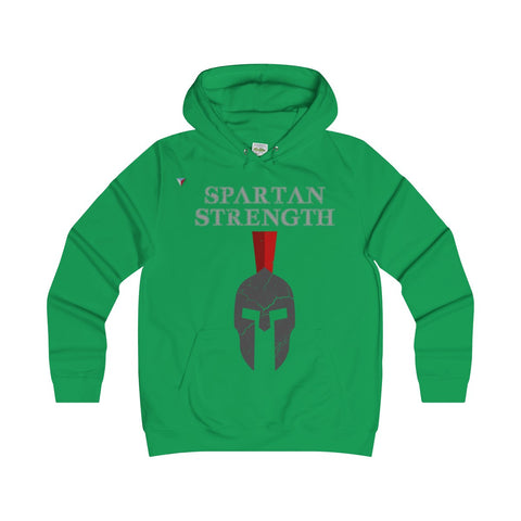 Spartan Strength Grey Gym Girlie Hoodie