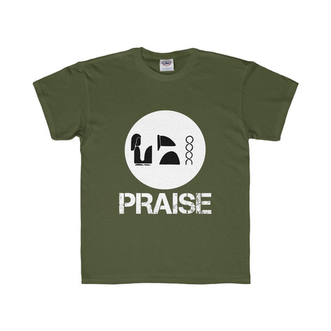 Praise Kek White Youth Regular Fit Tee