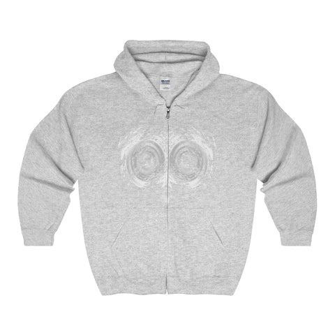 Halloween Psycho Owl Adult Full Zip Hooded Sweatshirt
