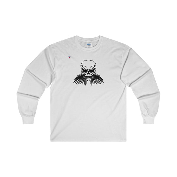Black Skull Ultra Cotton Long Sleeve T-Shirt