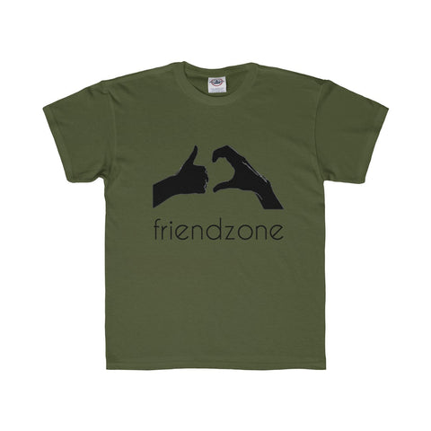 Friendzone Black Youth Regular Fit Tee
