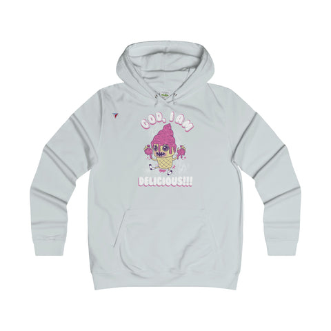 God I'm Delicious Ice-Cream - Girlie College Hoodie