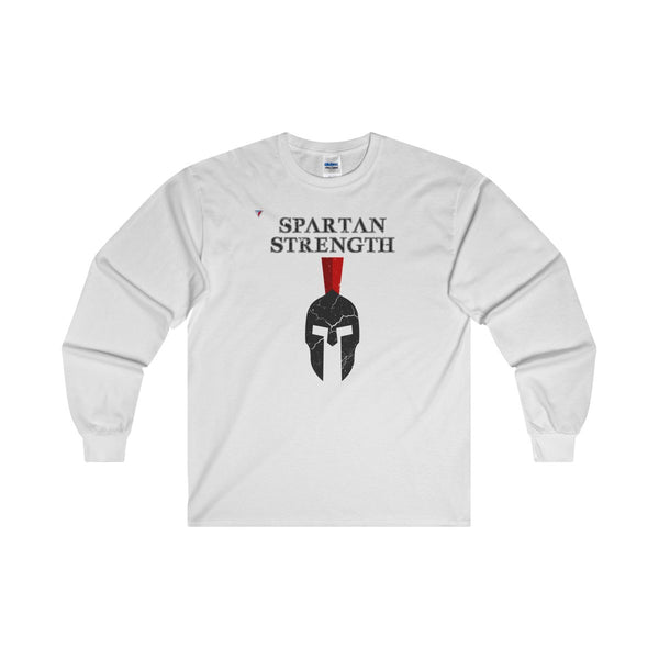 Spartan Strength Black Gym Ultra Cotton Long Sleeve T-Shirt