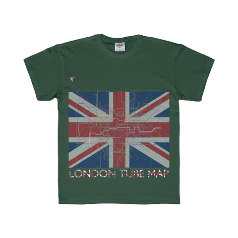 London Tube Map Youth Regular Fit Tee