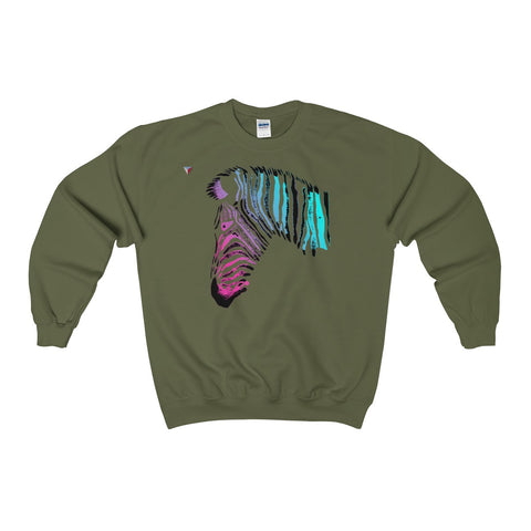 Neon Zebra Heavy Blend™ Adult Crewneck Sweatshirt