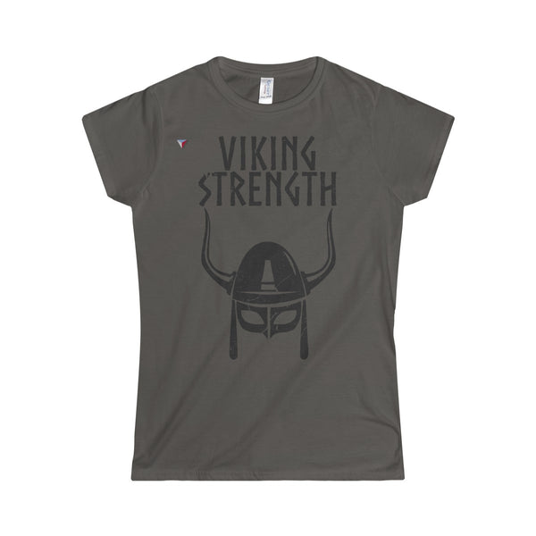 Viking Strength Black Gym Softstyle Women's T-Shirt