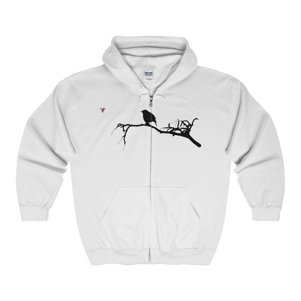 Black Bird Full Zip Hooded Sweatshirt